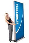 """31.5"""" x 83.25"""" One-sided Pull-up Banner display stand"""