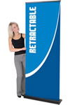 """35.5"""" x 83.25"""" Double-sided Roll-up Banner stand displays"""