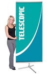 """36"""" x 93.5"""" One Sided L Banner Stand Displays"""