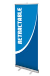 One Sided 31 x 77.5 Cost-effective Banner Stands