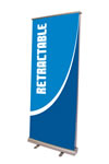 """32.75"""" x 78.75"""" Cheap Two-sided Banner Stand"""