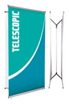 """38.75"""" x 85.75"""" Double-sided Tension Banner Stands"""