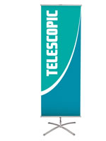 """23.5"""" x 62"""" Single-sided Banners with stands"""