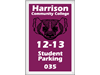 "2"" x 3"" Parking Permit decals and stickers"
