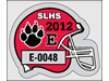 "2.75"" x 2"" Helmet-shaped Park sticker"