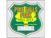 "2.75"" x 2.75"" Badge-shaped parking permits"