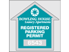 "2.75"" x 2.75"" Residential Park permits"