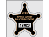 "2.75"" x 2.75"" Star-shaped custom park permits"
