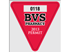 "2.75"" x 2"" Customized Triangle Parking Sticker"