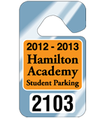 "2.75"" x 4.75"" Standard parking permit tags"