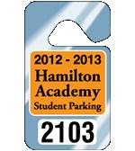 """2.75"""" x 4.75"""" Standard parking permit tags"""