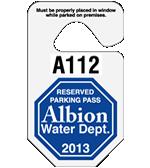 "2.75"" x 4.75"" Octagonal parking permit tag"