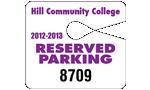 "4"" x 3.5"" Big park permits tags"