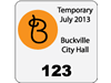 "1.75"" x 1.75"" small park permit passes"