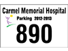 """3.5"""" x 2.25"""" personalized reflective parking stickers"""