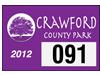 "3"" x 2"" customized parking permit pass"