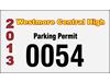 "4.75"" x 2.75"" custom reflective parking permits"