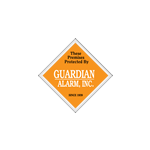 "3"" x 3"" Diamond shape security alarm sticker"