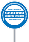Custom Circle Security Signage