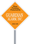 "9"" x 9"" Diamond-shaped security Signage"