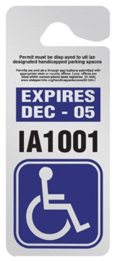 Custom parking permit tags