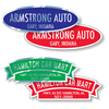 Custom auto dealer stickers