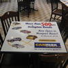 table advertising stickers