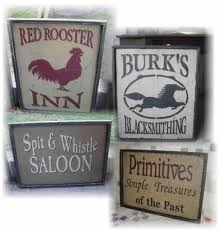 English Sign Makers rooster business signs