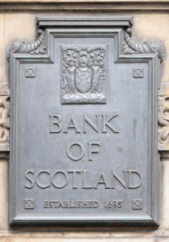 classic metal signage bank of scotland