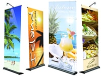 retractable banners, roll up banners