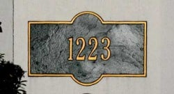 Plaque signs for address house number