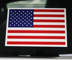 flag decal sticker for glass windows