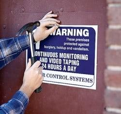 Polypropylene warning door signage