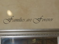 Special wall decal quotation