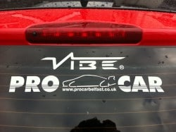 Rear Car Windshield decals