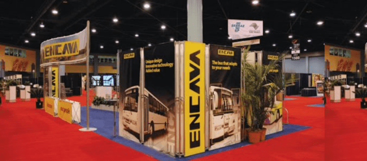 Trade Show Booth Backdrop : Dye sublimated banners as a trade show backdrop visigraph