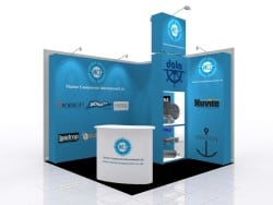 Trade Show graphic booth for marine supplies