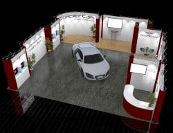 Trade show Booth for Cars