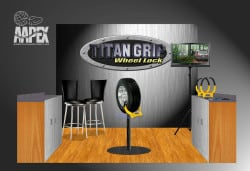 Trade show booth graphic for vehicles
