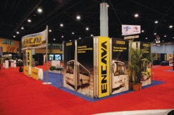 Trade show booth banners