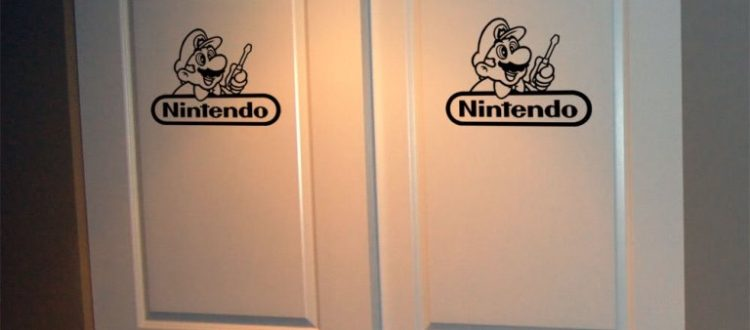 Nintendo door decals