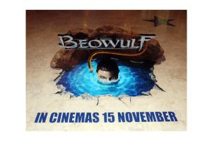 3d Floor Decal of Beowulf