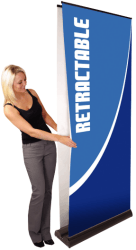 Wide-format Double Sided Vinyl Banner Stand